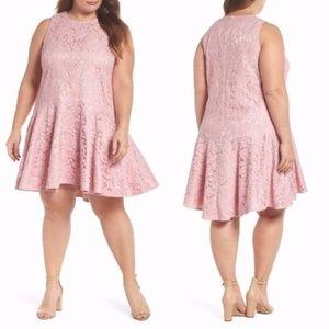 Eliza J NWOT Pink Lace Drop Waist Dress 16W